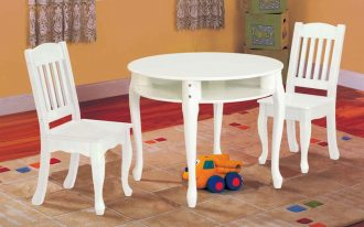 White Round With Storage Of Table And Chair Set For Toddlers And Cool Rug