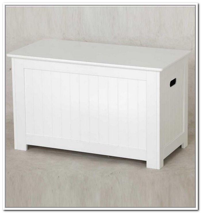 Beau White Small Bench With Storage