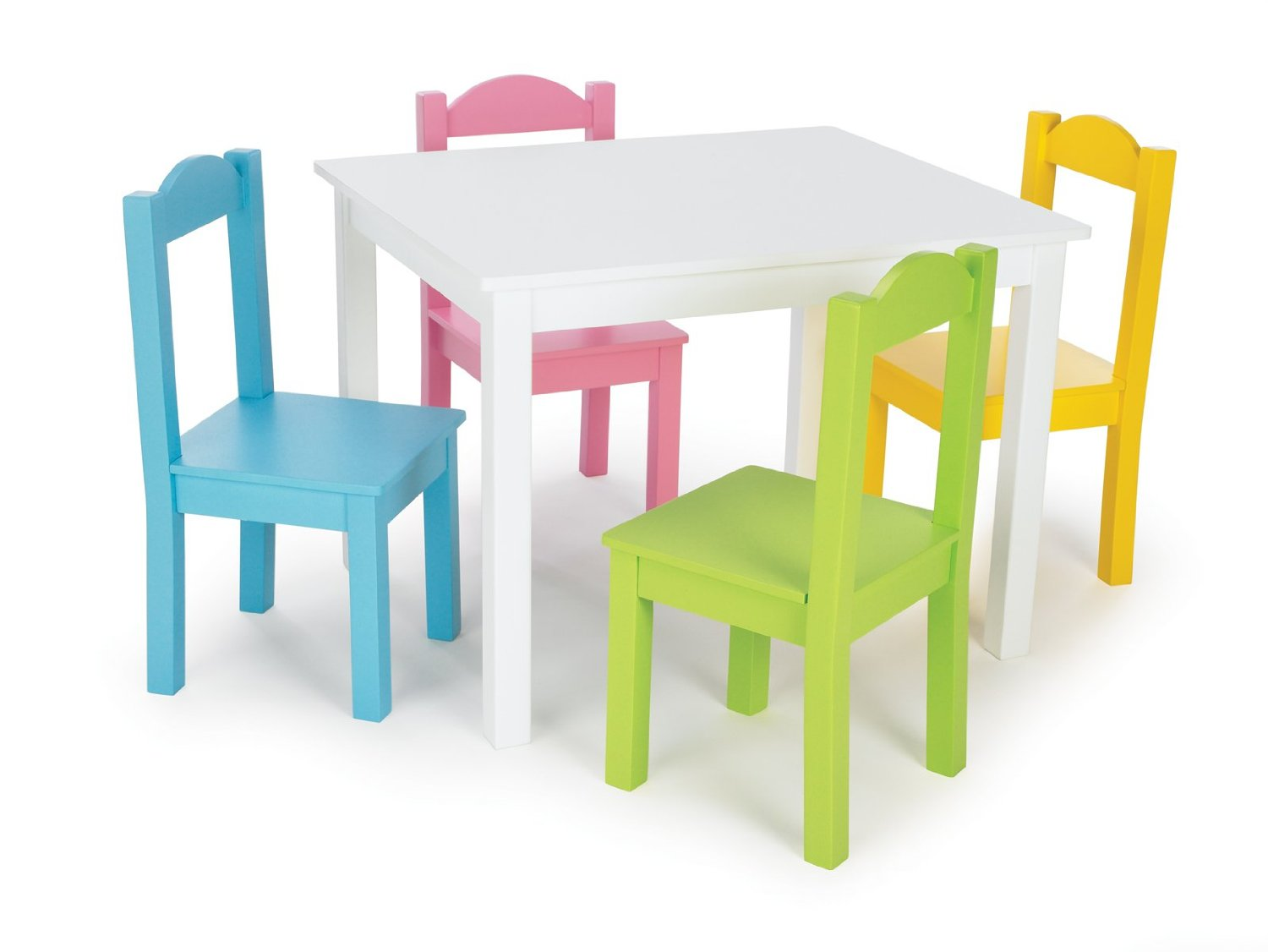 Superieur White Table And Chair Set For Toddlers With Colorful Color