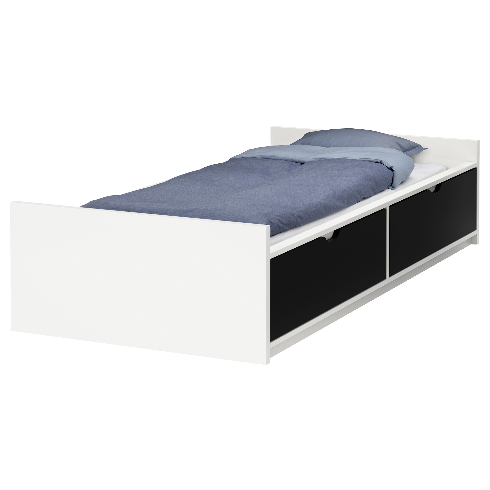 Wonderful twin xl bed frame ikea homesfeed for Double bed with storage and mattress