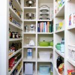 White Walk In Pantry Shelving Systems With Narrow Shelves