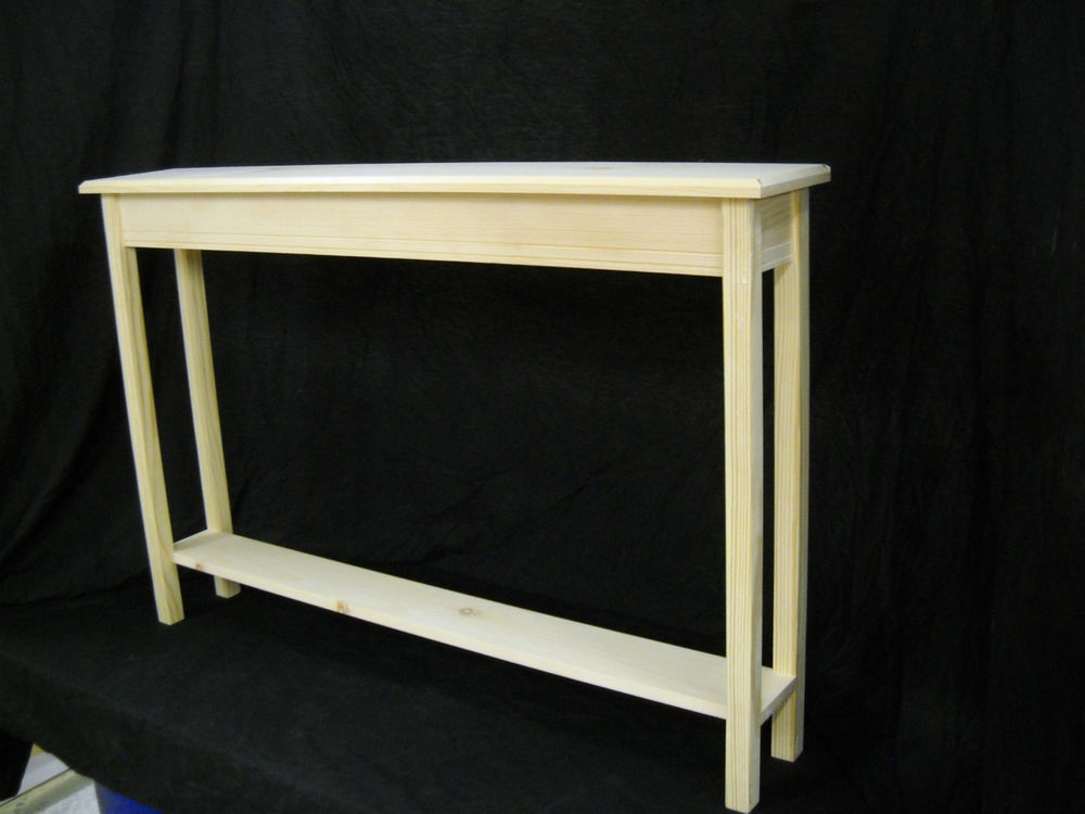 White Wooden Shallow Console Table