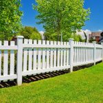 White painted wood decorative fencing system