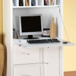 White secretary desk for computer