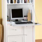 White secretary desk for computer