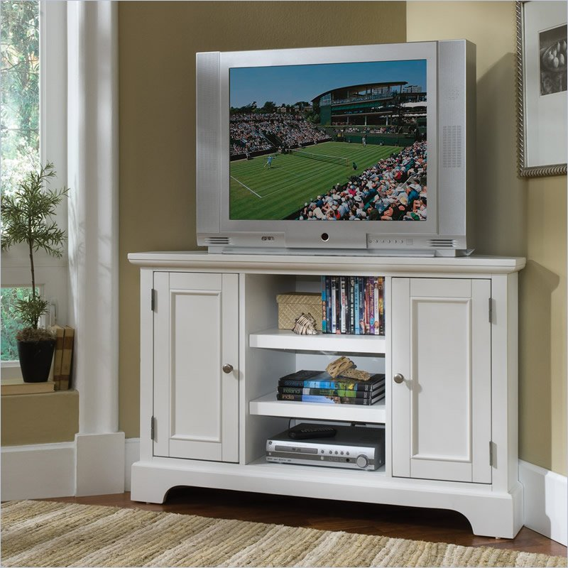 Tall corner tv stand designs and images homesfeed White tv console