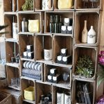 Wine crate rack idea in vintage look