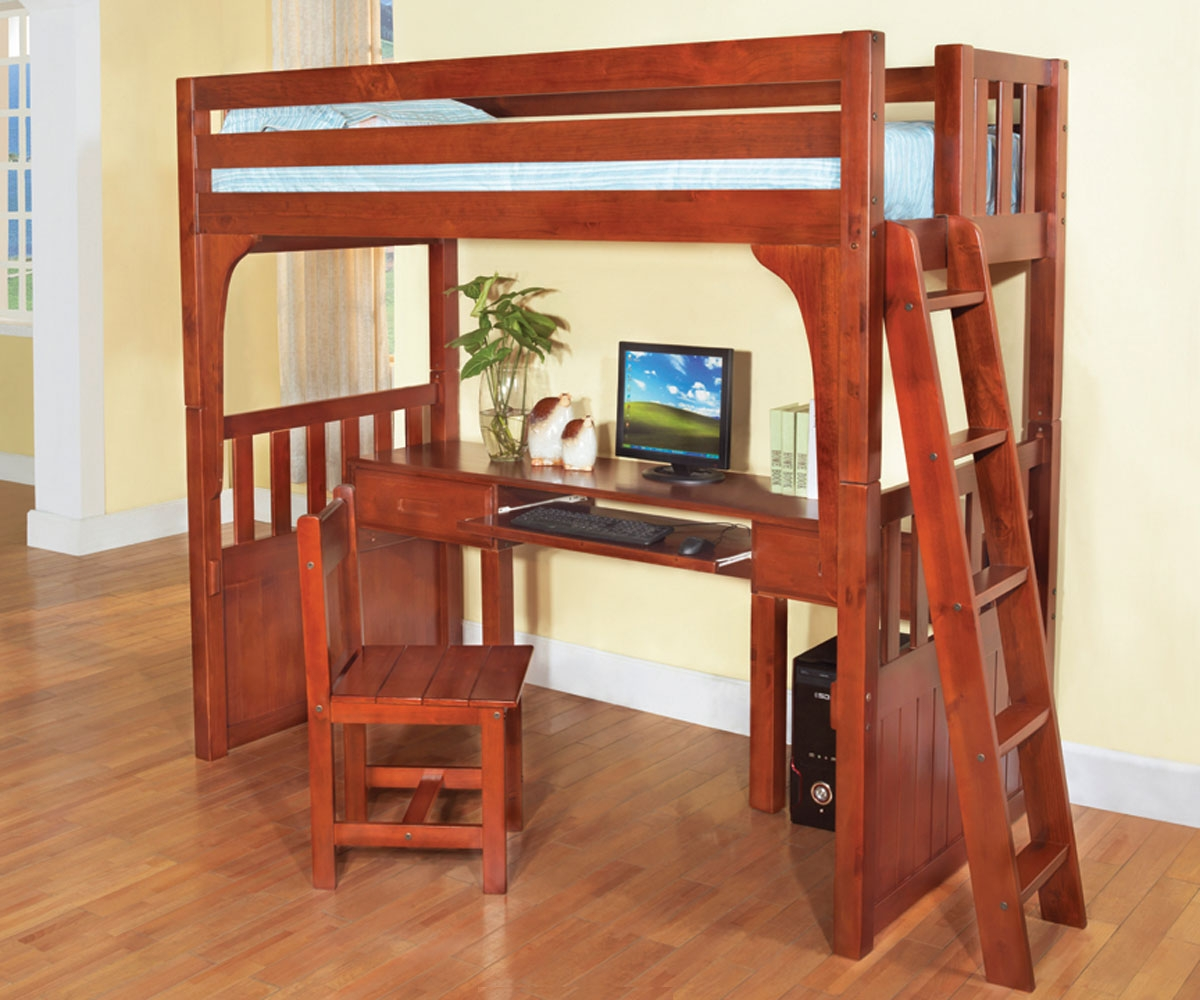Wooden Loft Bed with Desk: Most Recommended Space-Available Furniture ...