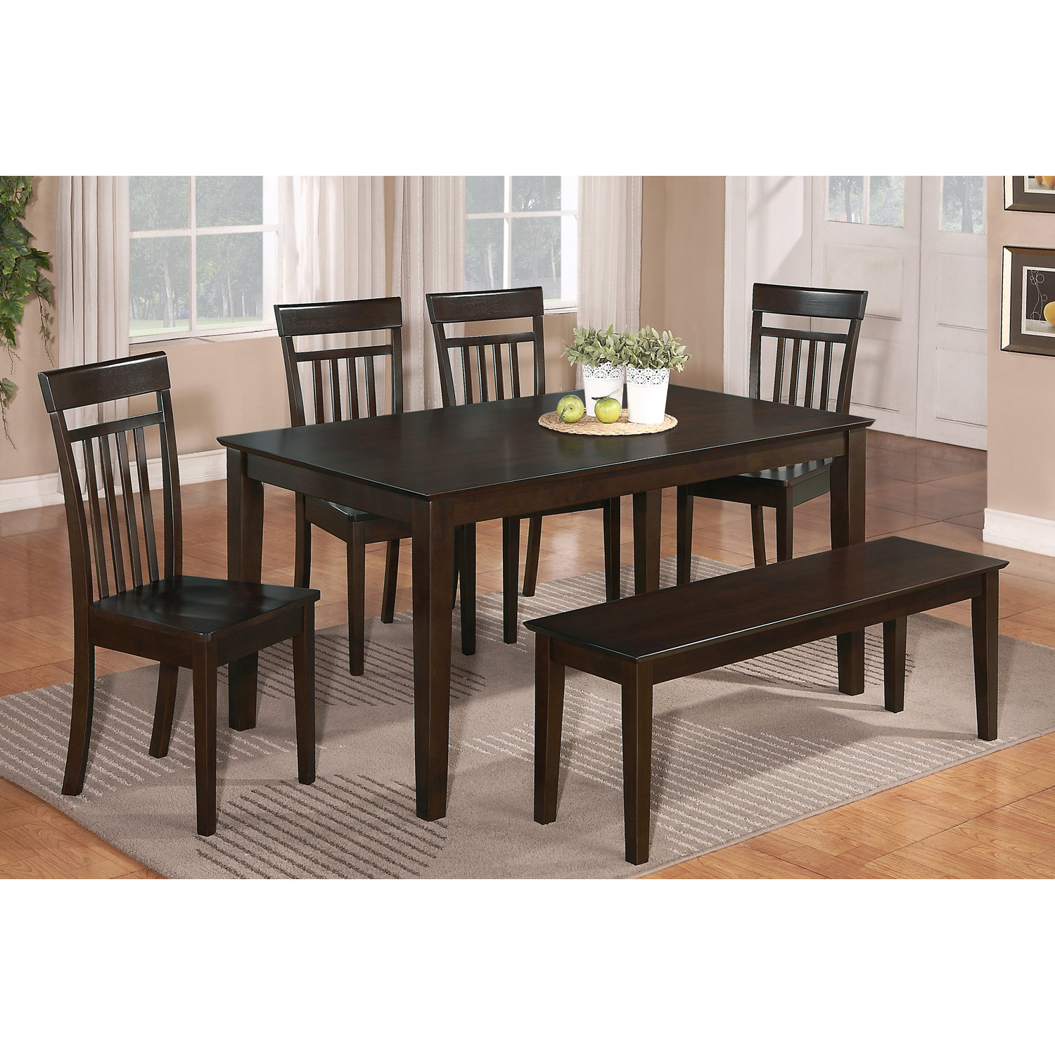 Awesome dinette sets with bench homesfeed for Kitchenette sets furniture