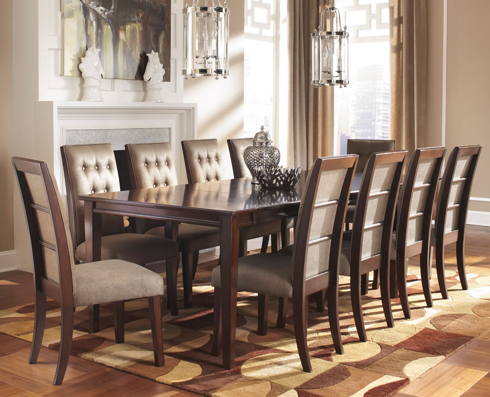 wooden formal dining room sets for 8 with decorative rug and unique