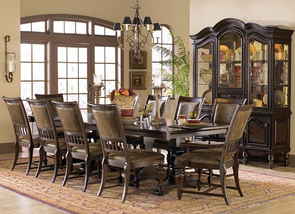 Perfect formal dining room sets for 8 homesfeed for Dining room sets for 8