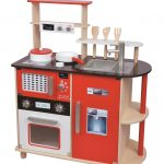 Wooden kitchen toy design with multiple color combination