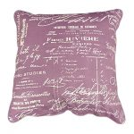 Words Pattern Design With Old Purple Color For Stratford Home Pillows
