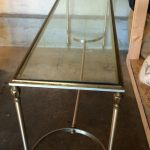 Wrought Iron Extra Long Sofa Table With Glass Top