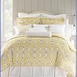 Yellow White Patterned Design For Bedding With Dillards Bedroom Furniture
