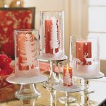 glitter vases with candlebars