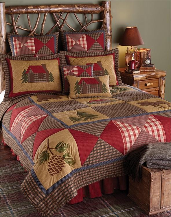 Log Cabin Queen Bed Frame