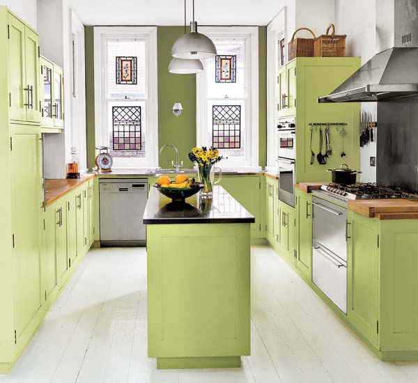 Feel a brand new kitchen with these popular paint colors for Best colors for small kitchen