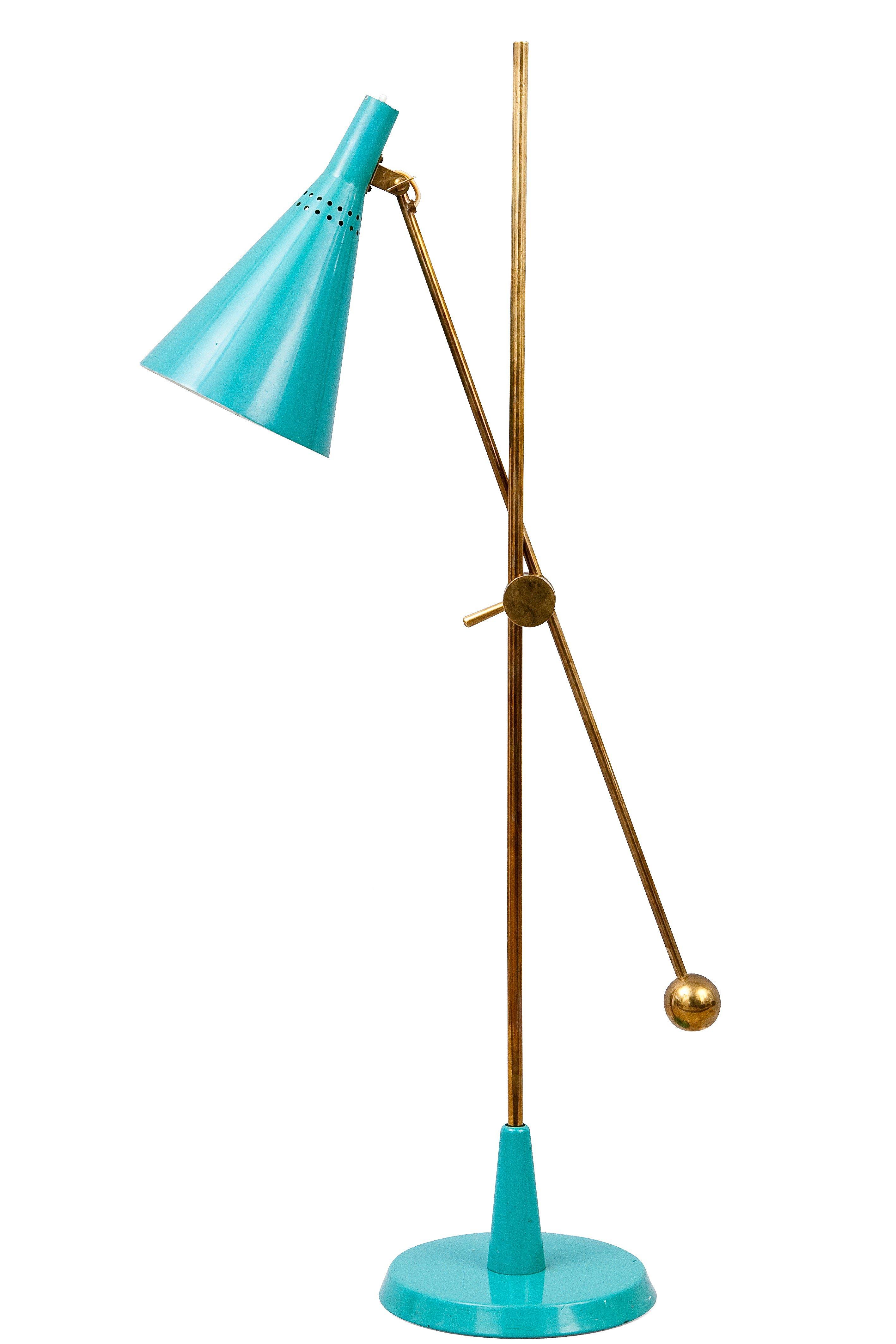 Cool Turquoise Floor Lamp | HomesFeed:Adjustable Direction Of Turquoise Floor Lamp,Lighting