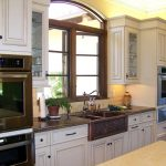 Apron Sink Casement Of Best Material For Kitchen Sink With White Cabinet Set