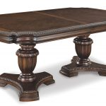 Art Capri Double Pedestal Dining Wooden Table