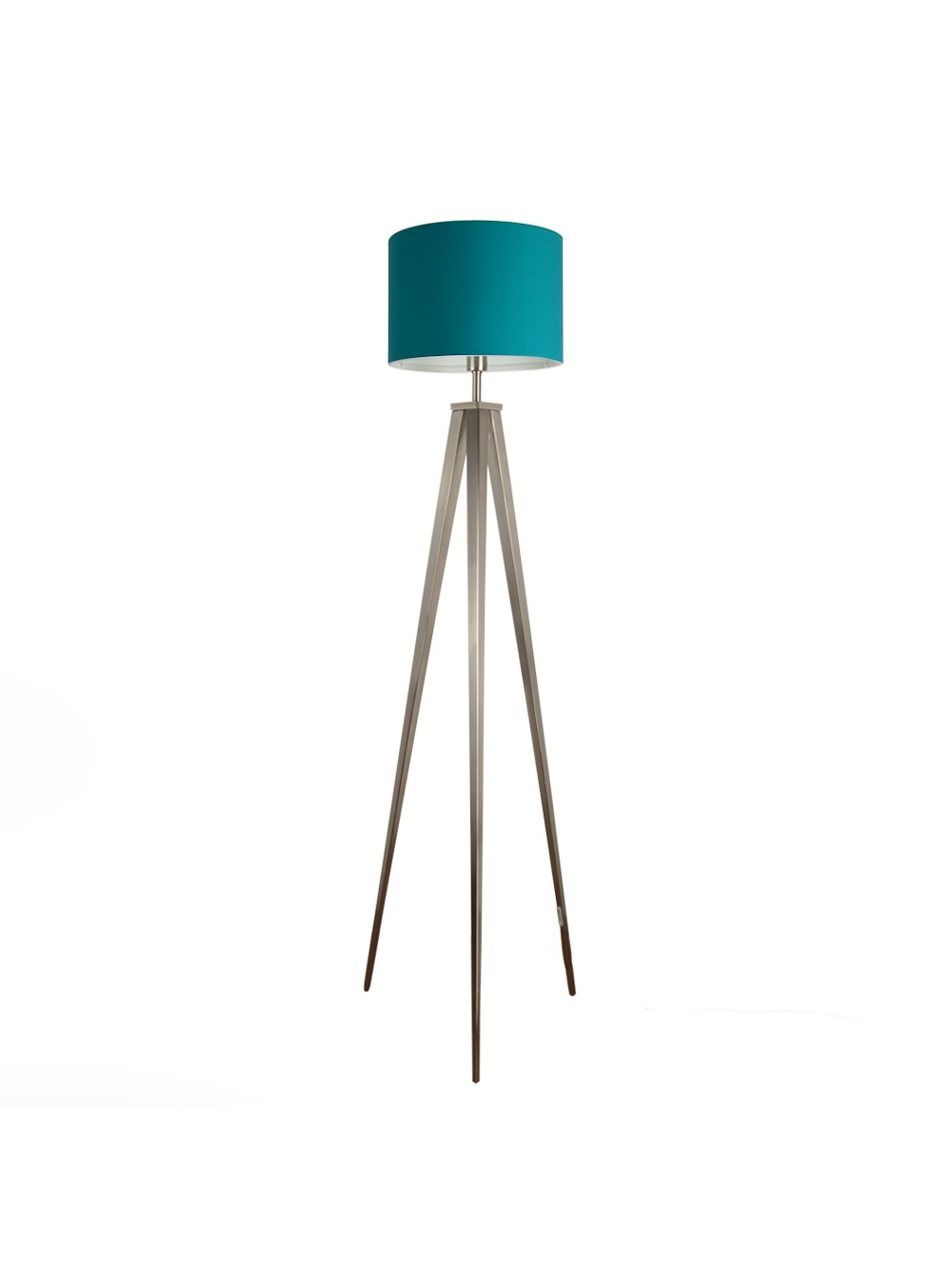 home at base ceramic with silver in turquoise lamp table
