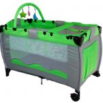 Baby Cot Bed Green And Black Color