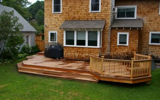 Backyard Deck With Cool Architecture