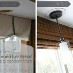 Before And After Convert Recessed Light To Pendant Near Window