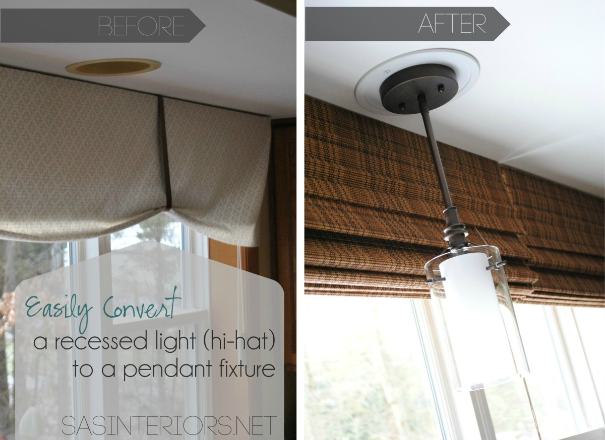 Good convert recessed light to pendant homesfeed before and after convert recessed light to pendant near window arubaitofo Choice Image