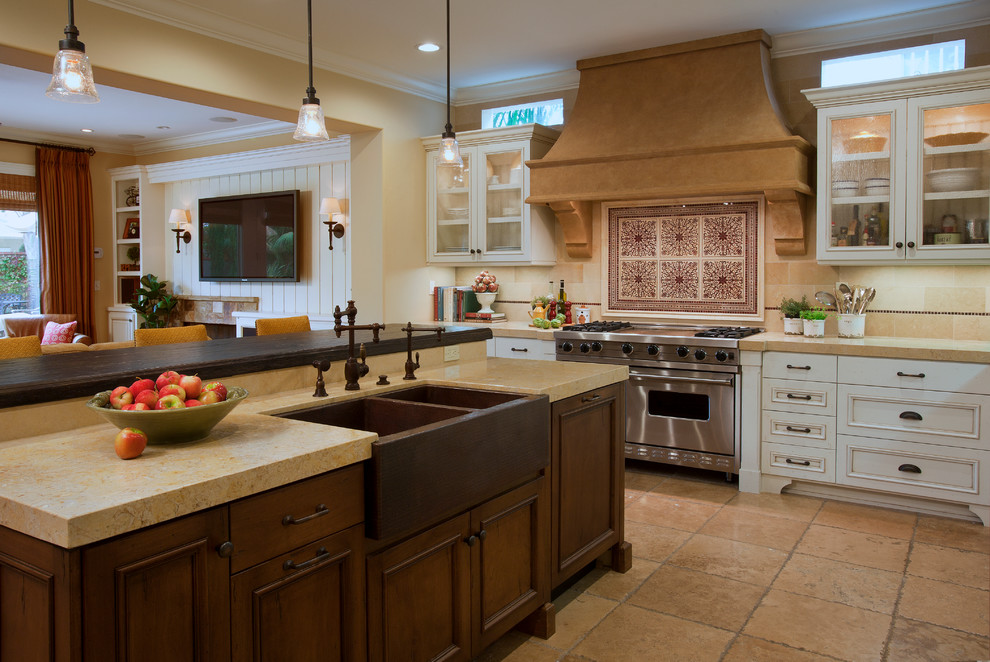 Best Material For Kitchen Sink With Wooden Kitchen Set And Triple Lighting
