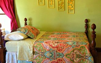 Better Homes and Garden Comforter Sets With Decorative Pattern And Color Plus Green Wall
