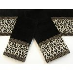 Black Cheetah Animal Print Bath Towels