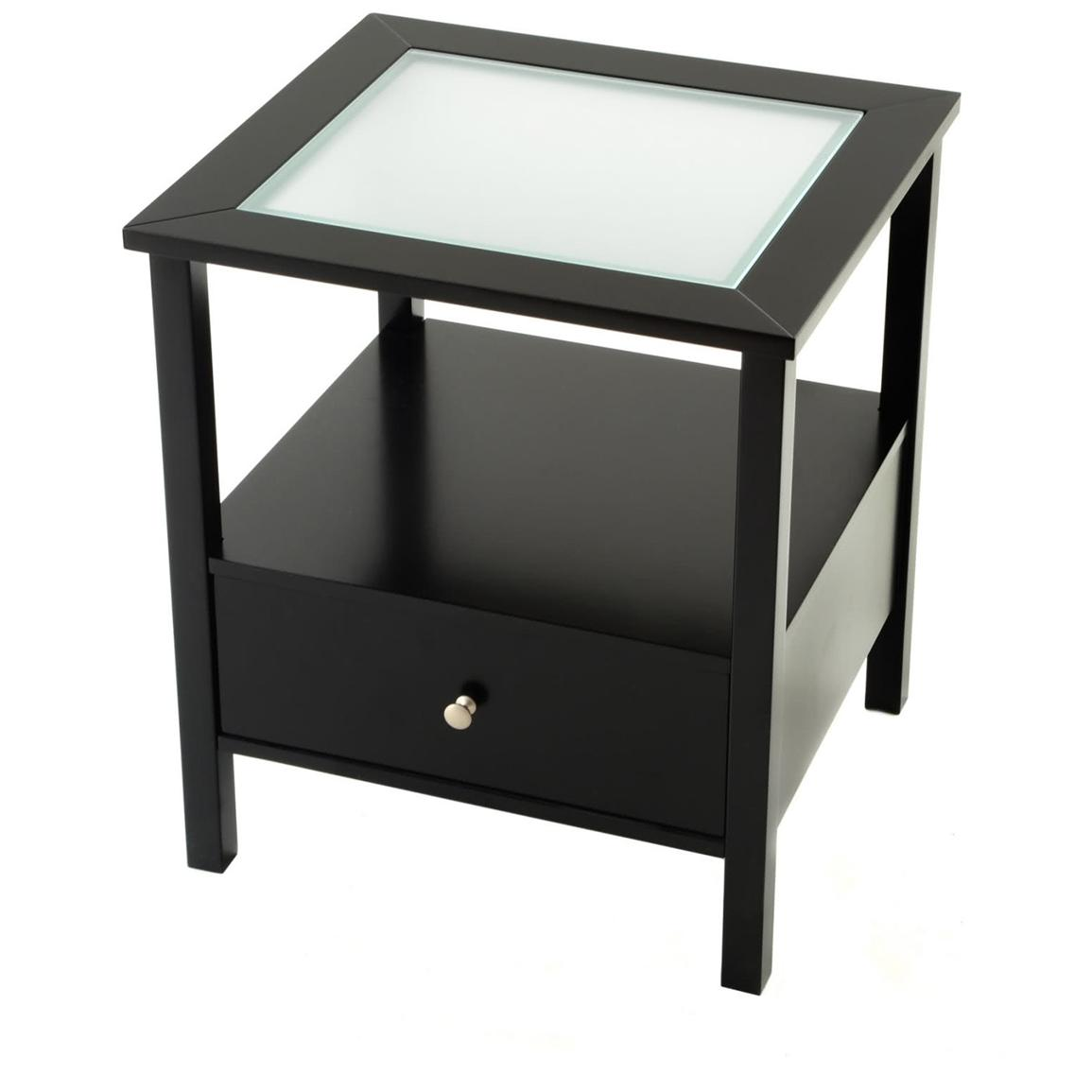 Perfect small end table with drawer homesfeed for Black wood end tables