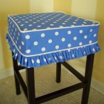 Blue White Dotted For Bar Stool Slipcovers