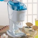 Blue White Soft Serve Ice Cream Machine For Home