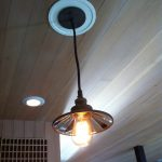 Bright Convert Recessed Light To Pendant On Wood Ceiling
