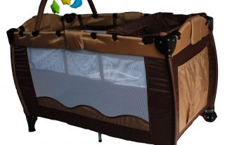 Brown Baby Travel Bed