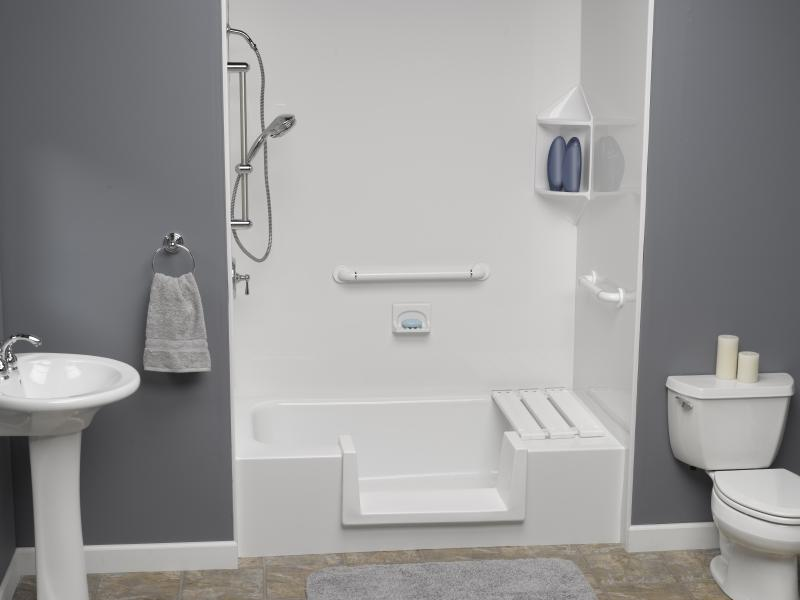 Btahroom Ideas With White Small Bathtubs With Shower Towel Holder And Sink