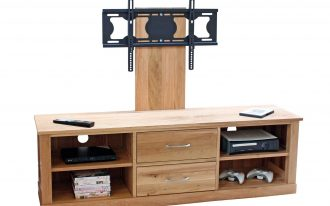 Cabinet Oak Flat Screen TV Stands With Mount