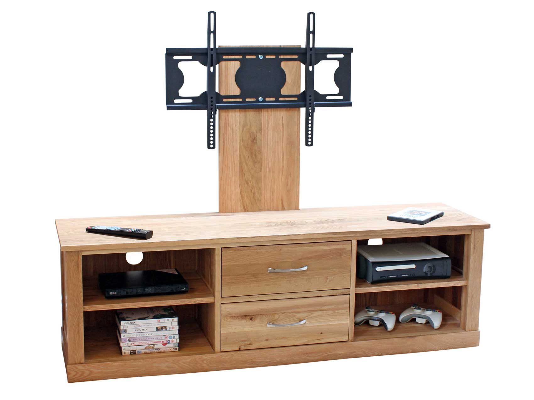 Cabinet Oak Flat Screen TV Stands With