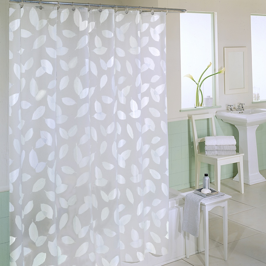 Clear Shower Curtain With Design