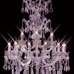 Colored Crystal Pink Chandelier For Girls Room