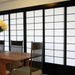 Cool Room Divider With Shoji Screen Ikea And Rectangular Wooden Table And Chairs With Flower Vase