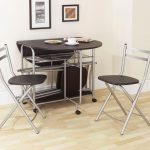 Cool Space Saver Dining Set With Half Moon Table And Space For Chairs