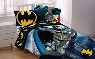 Cool Superhero Bedding Sets With Batman Theme And White Furniture
