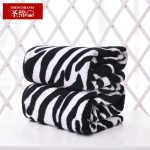 Cotton Zebra Animal Print Bath Towels