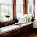 DIY Cushions For Window Seats With Stylish Pillows And Flower On Window