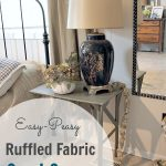 DIY Fabric Cord Covers For Lamp With Long Mirror Grey Side Table And Wrought Iron Table