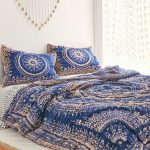 Dark Blue Decorative Plum And Bow Bedding